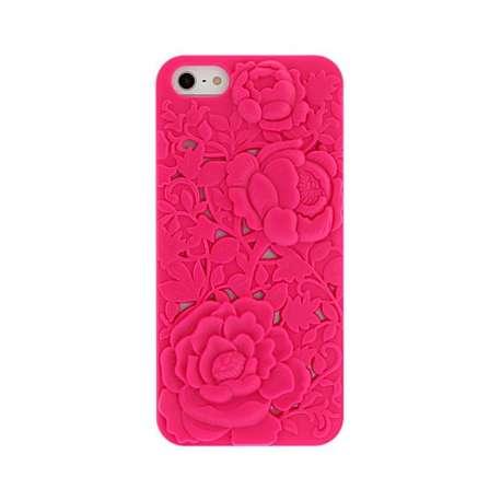 Coque à Rose Gravées pour iPhone 5/5S