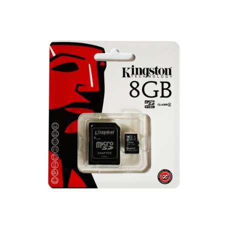 MicroSDHC 8GB Class 4 + Adapteur