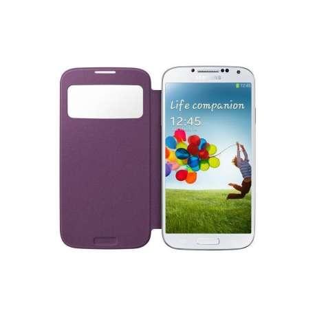 Samsung flip cover view pour S4 MARRON