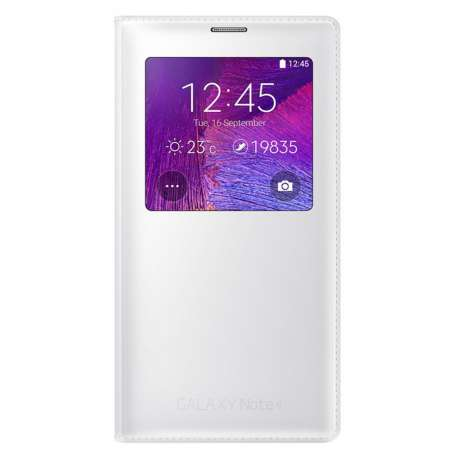 Samsung s view cover pour Galaxy Note 4 Blanc