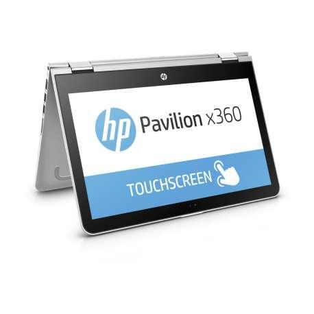 """HP Pav x360 i3-7100U 13.3"""" 4GB 500GB W10 Touch Silver"""