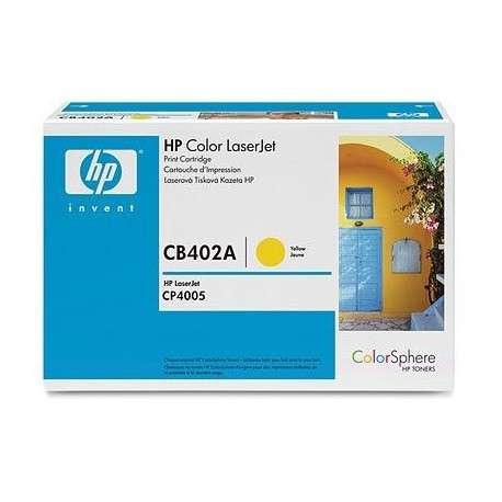 Toner d'impression jaune HP Color LaserJet CB402A (CB402A)