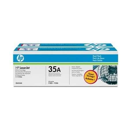 Toner Cartouches d'impression noire HP LaserJet 35A (lot de 2) (CB435AD)