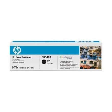 Toner Cartouche d'impression noire HP LaserJet 125A (CB540A)
