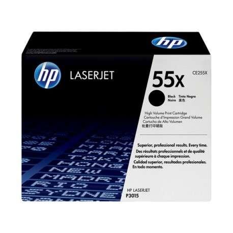 Toner Cartouche d'impression noire HP LaserJet 55X (CE255X)