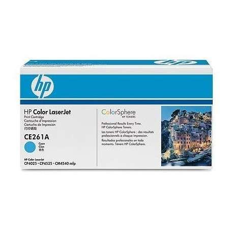 Toner Cartouche de toner cyan HP LaserJet 648A (CE261A)