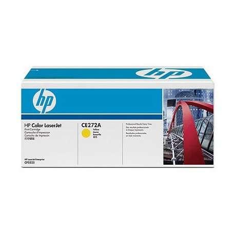 Cartouche de toner jaune HP LaserJet 650A (CE272A)