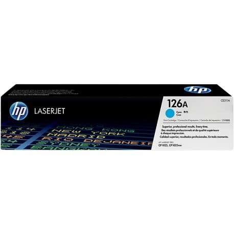 Cartouche d'encre cyan HP LaserJet 126A (CE311A)