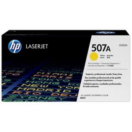Cartouche de toner jaune HP 507A LaserJet (CE402A)
