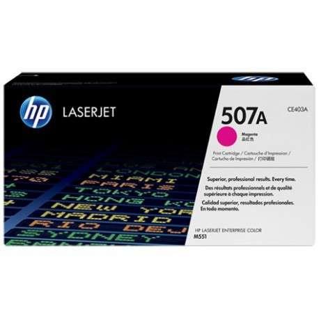 Cartouche de toner magenta HP 507A LaserJet (CE403A)