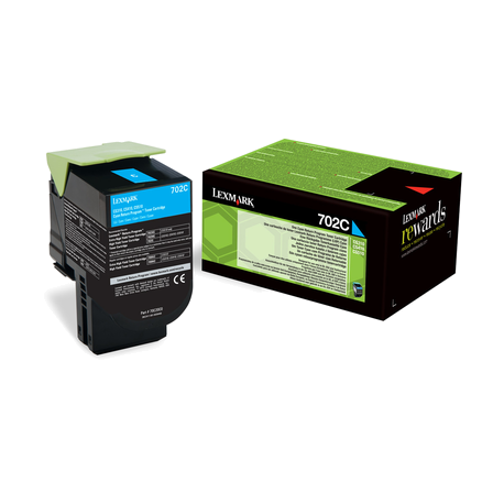 Lexmark Standard Cyan Return Programme Toner Cartridge