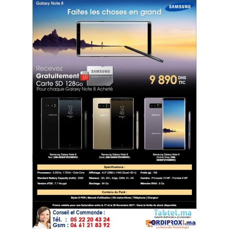 PROMOTION SAMSUNG GALAXY NOTE 8