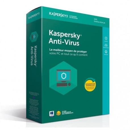 Kaspersky Antivirus 2018 3 Postes / 1 an