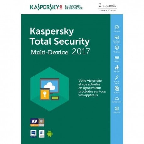 Kaspersky Total Security 2017 2 Postes Multi-Devices