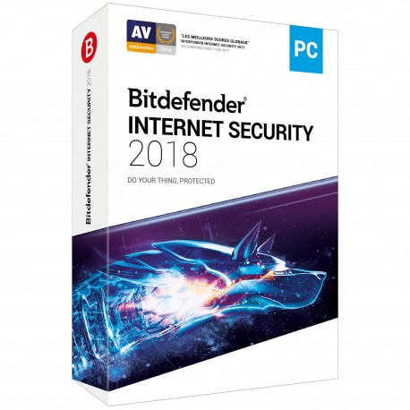 BITDEFENDER INTERNET SECURITY 2018 1 AN 3 POSTES