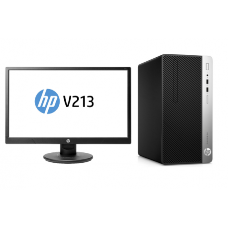 PC COMPLET HP 400G4 MT i5-7500 4GB 500GB W10p64 + Ecran 20,7