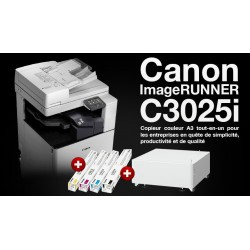 Copieur Canon Image Runner C3025i Multifonctions Couleur 3 en 1 A3