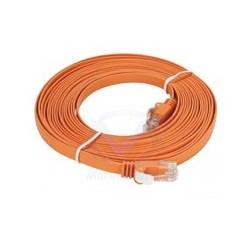Câble droit RJ-45 D-LINK Cat6 UTP 32 AWG PVC Flat - 5 mètre - couleur Orange