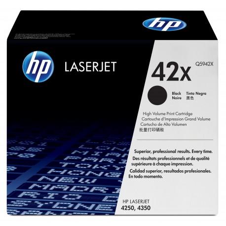 Cartouches d'impression TONER noire HP LaserJet 42X (lot de 2)