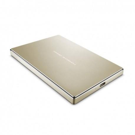 """Disque dur externe 2 TB LaCie Porsche Design Mobile Drive Gold - 2.5"""" en aluminium - USB 3.1 Type-C"""