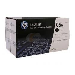 Cartouche toner Noir LaserJet HP 05A Black 2-pack (CE505D)