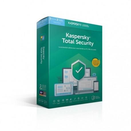 Kaspersky Total Security 2019 5 Postes / 1 An / 2 Utilisateurs