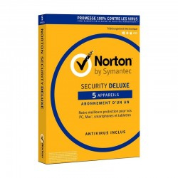 Norton Security DeLuxe 1 an - 5 appareils