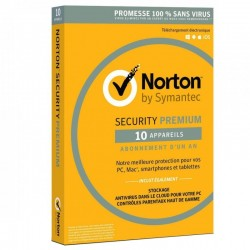 Norton Security premium 1 an - 10 appareils