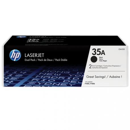 Cartouche de toner HP 35A 2-pack LaserJet Cartridge Noir (CB435AF)