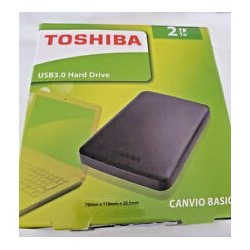 DISQUE DUR EXTERNE TOSHIBA CANVIO2To 2.5 Noir (HDTP210EK3AA)