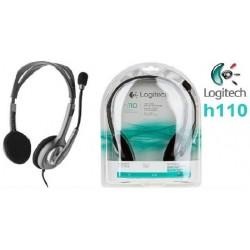 Casque Micro Logitech Stéréo Headset H110 (981-000271)