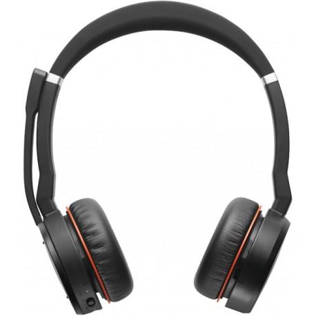Micro-casque Jabra Evolve 75 Stéréo MS avec Link 370