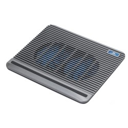 "RIVACASE 5555 silver laptop cooling pad up to 15,6"" /14"