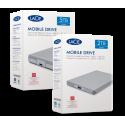 LaCie Mobile Drive 2To, Disque dur externe portable, Moon Silver, USB-C USB 3.0 Thunderbolt 3, Mac, PC (STHG2000400)