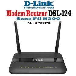 Routeur Modem sans fil N 300 ADSL2 / 2 + 11AC 300MBPS avec ports LAN 4x10 / 100 Mbps