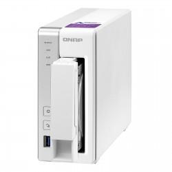SERVEUR QNAP NAS DESKTOP  1 BAIE 1 GB RAM,  0TB DISKLESS QNAP SUPPORT (TS-131P)