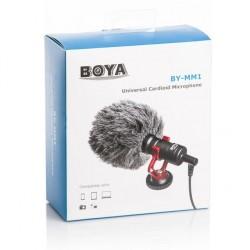 BOYA BY-MM1 Mini Microphone Electromètre Electrique pour Smartphone Tablette PC DSLR Caméra