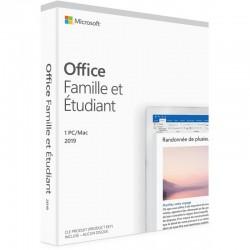 Microsoft Office Famille et Étudiant 2019 - Windows/MAC - Français (79G-05195)
