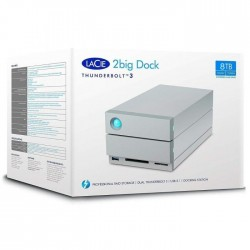 Station de stockage DAS LaCie 2big Dock 2 x Total de compartiments Bureau - USB 3.0 Type A - Serial ATA/600 (STGB8000400)