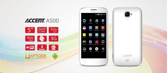 Achetez le smartphone Accent A500 au meilleur prix sur tabtel Maroc